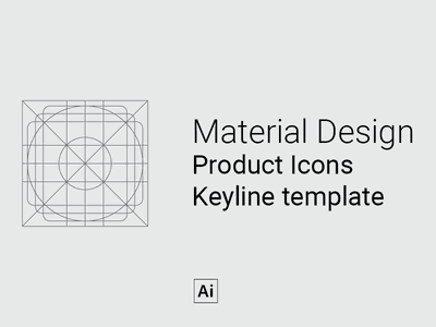 MD Keyline template design illustrator android download freebie icons guides keylines material design google adobe illustrator adobe template free