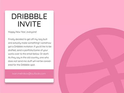 Dribbble Summons minimalist floating invites giveaway invites pink illustrator dribbble invite