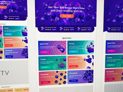 Jackpotslots lottery gambling ux web design illustration ui