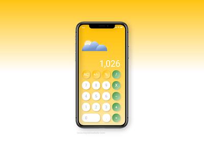 iPhone Calculator apple app brand design digital dailyui design