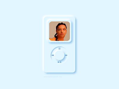 2021 MP3 Player vector mp3 player apple dailyui appdesign illustrator uiux design