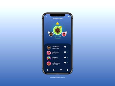 Leadership Board artwork app uiux brand design appdesign digital art apple dailyui uidesign