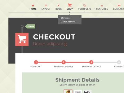G theme checkout page