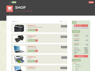 Showcase/shop page theme