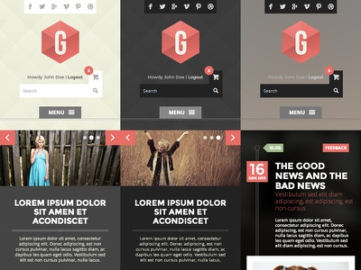 G Theme Mobile screens theme wordpress mobile jquery
