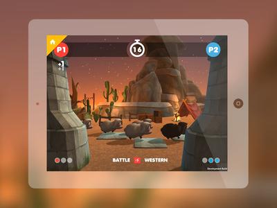 Sheep Rush battle mode in-game screen