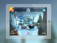 Sheep Rush battle mode in-game screen iceland