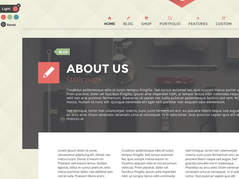 G theme static page theme wordpress html5 css3