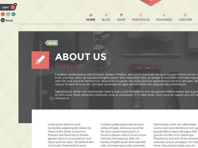 G theme static page theme wordpress html5 css3