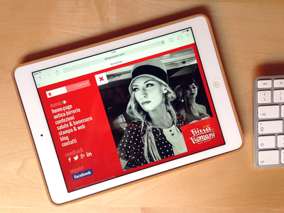Birra Ronzani home-page iPad