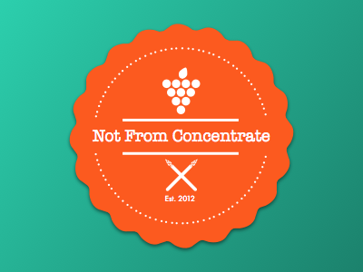 Not From Concentrate Logo logo food
