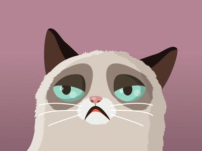 Vector Grumpy cat v.2