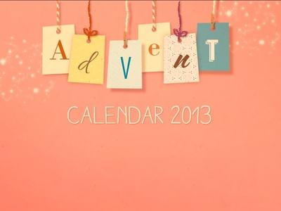 Advent calendar header. here the calendar