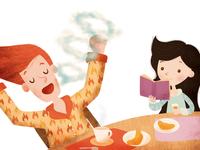 """""""Figli, tutti diversi, tutti speciali""""  - tav.2 Breakfast time!"""