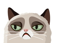 Vector grumpy cat