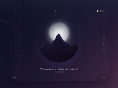 The mountains are calling web design vector mountain gradients purple landscape illustration night moon mountains