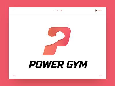 Logo concept - P (Power Gym) slide power gym logo power p illustration gradients design
