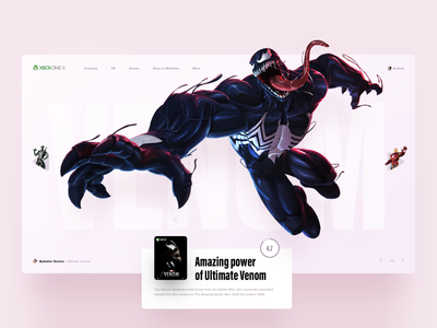 We are Venom spiderman interace xbox slide marvel game venom