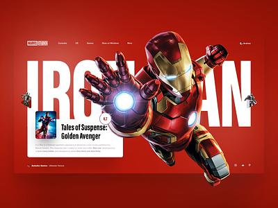 Iron Man avenger marvelcomics marvel ironman web game slide design
