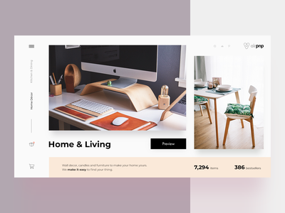 Home & Living (concept) card service photos interior design slide