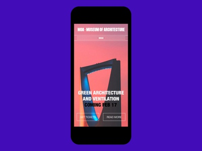MOA · MUSEUM OF ARCHITECTURE LANDING PAGE MOBILE