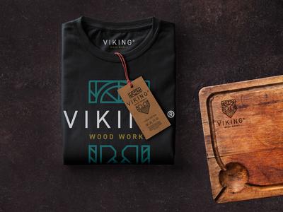 Viking Wood Works T Shirt and Cutting Board