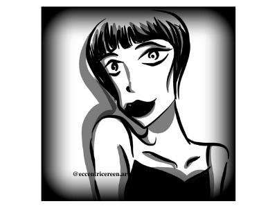 Allure cartoon illustration design