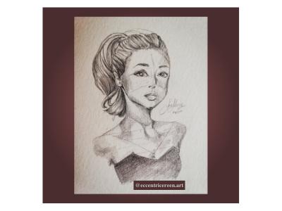 Audrey portrait illustration design