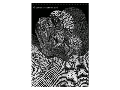 60 magazine zine portrait batik illustration design