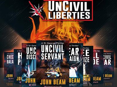 UnCivil Liberties Book Series Cover Designs book cover ebook cover graphic design book cover design design