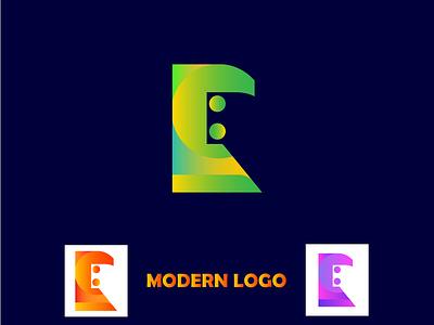 MODERN LOGO DESIGN print dribbble modern logo design blou yallow green project typhograpy branding social media design illustraion colorful graphic design design modern logo logo