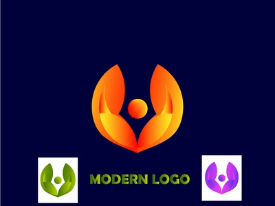 MODERN LOGO DESIGN yallow 3d branding design logo illustration social media design colorful graphic design modern logo design modesrn logo
