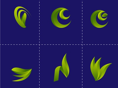 MODERN NATURAL LOGO DESIGN modern logo green blou logo design social media design design illustration logo branding colorful graphic design modern natural logo design