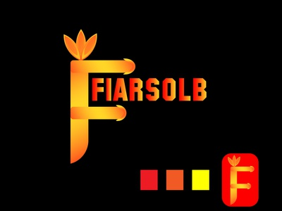 MODERN LOGO DESIGN (FIARSOLB) logofulio red color fiar logo project design modern logo logo design vector colorful social media design branding logo graphic design modern logo design
