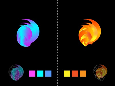 MODERN LOGO DESIGN yallow red branding vector illustration design logo design logo social media design colorful graphic design modern logo design modern logo