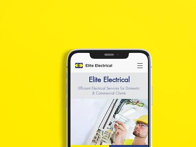 Elite Electrical | Branding | Motion | Web Design logodesign uxdesign uidesign app design website design rebranding motion graphics branding and identity