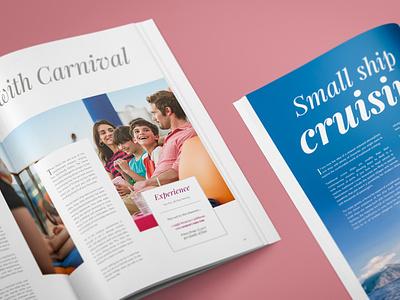 Voyage | Travel Magazine typography design magazine design magazine cover layoutdesign editorial design brochure mockup brochure design design for travel travel brochure travel magazine