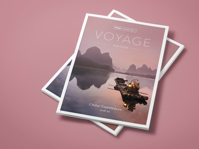 Voyage | Travel Magazine typography design magazine design magazine cover layoutdesign editorial design brochure mockup brochure design design for travel travel brochure travel magazine