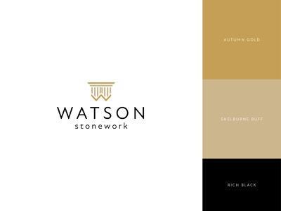Watson Stonework | Logo Design | Rebrand rebrand rebranding logo eccleston.agency logotype logodesign branding branding and identity