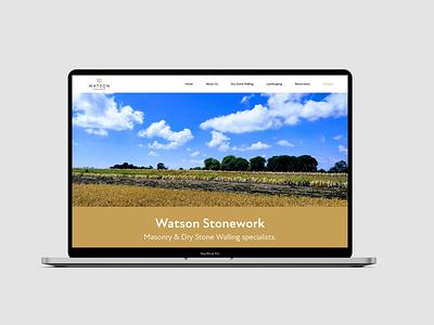 Watson Stonework | Web Design frontend development frontend design ui smallbusiness smallbiz web design webagency website design webdesign