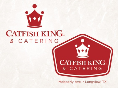 Catfish King Logo logo catfish king restaurant catering crown
