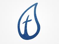 Waterdrop Cross Logo