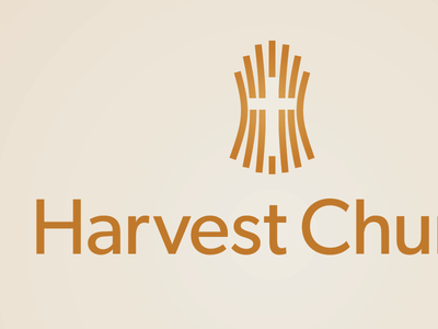 Harvest Church Logo wheat cross ministry logo