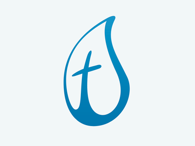 Waterdrop Cross Logo V2 cross water droplet church logo