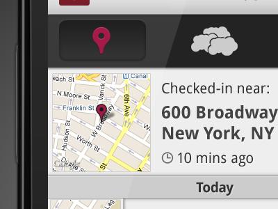 Droplat Beta Checkins android dashboard action bar location