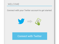 """Touchlab """"Draw"""" Mockups android twitter log in"""