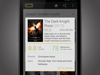 IMDb Redesign Concept android mockup redesign