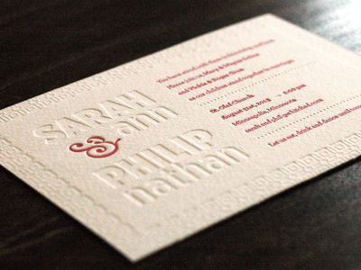 S&P Wedding Invite letterpress wedding invite