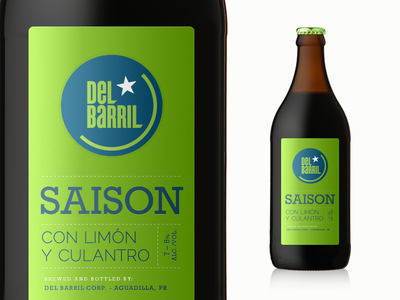 Saison Label Exploration beer bottle label saison del barril