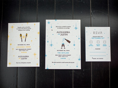 A&J Wedding Invites blind emboss cheers celebrate invite wedding letterpress
